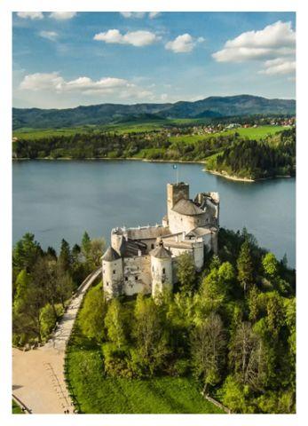 jezioro Czorsztyńskie zamek w Niedzicy
