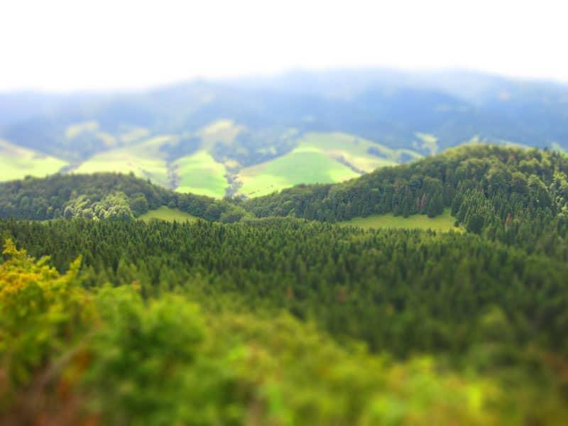 Widok z góry Wysokiej - strona słowacka