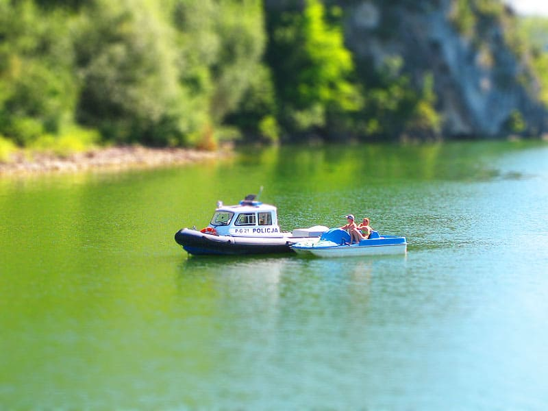 Akcja policji w zatoce jeziora Czorsztyńskiego