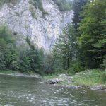 spływ Dunajcem tratwami widok na Dunajec i strome zbocza