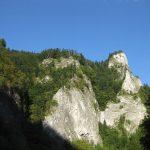 Trasa na sływie, widok na Sokolicę nad Dunajcem - piękny widok