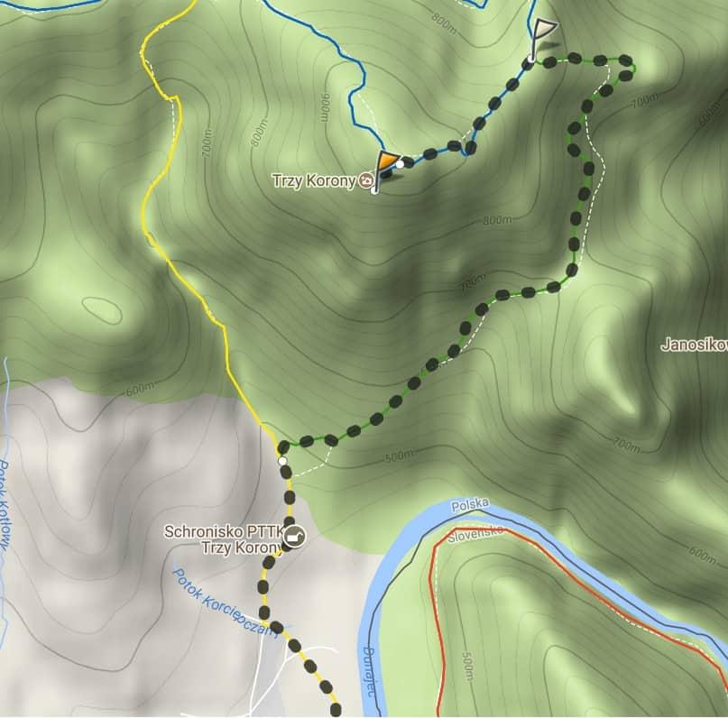 Druga trasa ze Sromowców Niżnych na Trzy Korony