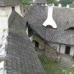 Widok na dziedziniec Zamku z wiezy widokowej