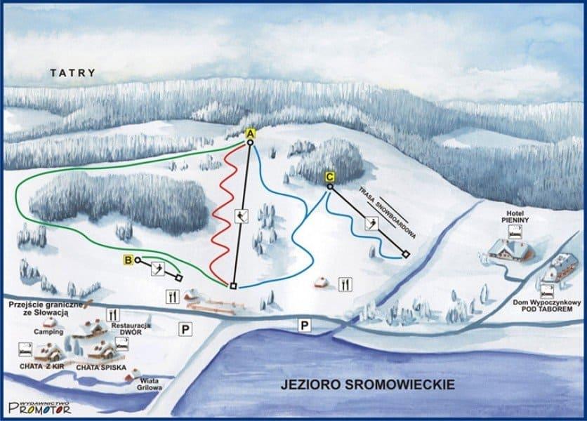 stacja narciarska polana sosny w niedzicy
