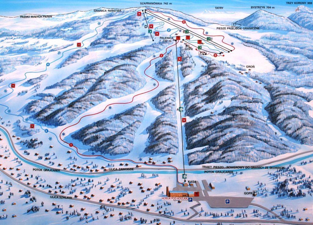 Stoki i wyciągi narciarskie Palenica