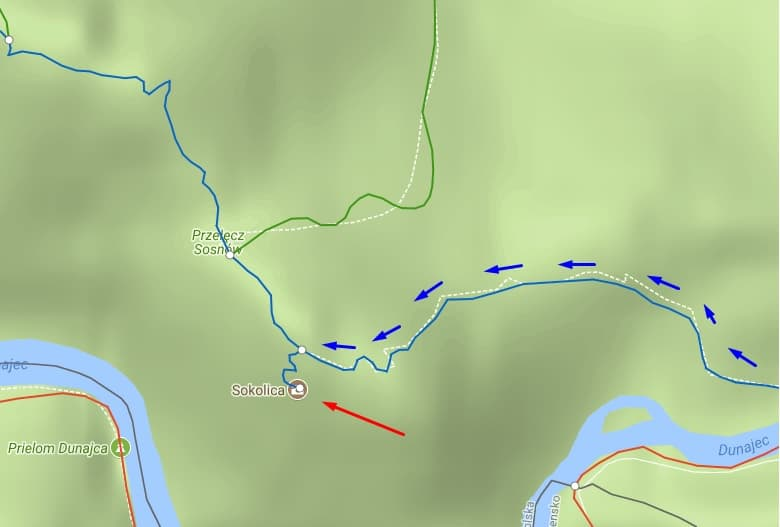 Szlak na Sokolicę ze Szczawnicy
