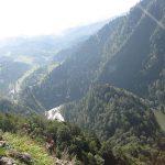 WIdok na DUnajec i Sromowce ze szczytu Sokolicy