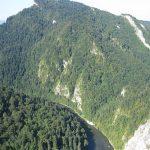 Widok na Przełom Dunajca ze szczytu Sokolicy