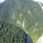 Widok z Sokolicy na Trzy Korony oraz Dunajec