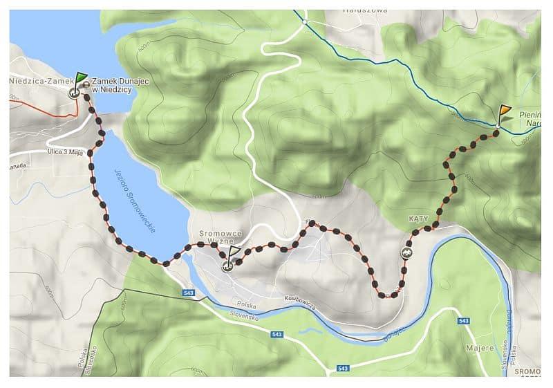 szlak turystyczny niedzica - sromowce wyzne - macelak