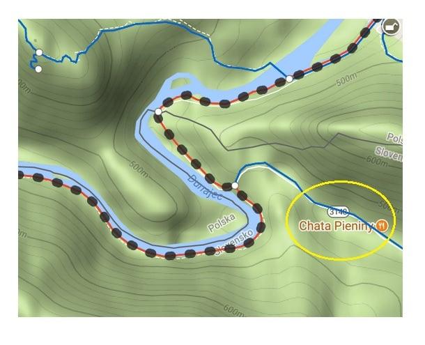 pienińska ścieżka rozwidlenie szlaków czerwonego i niebieskiego