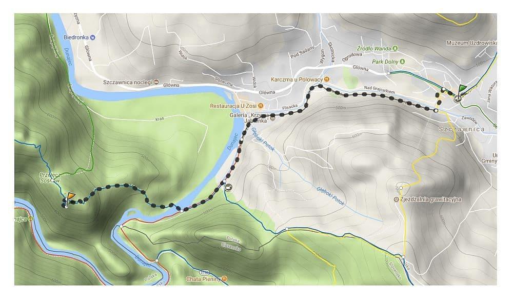 szlak turystyczny szczawnica do Sokolica