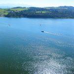 widk z zamku czorsztyn na jezioro