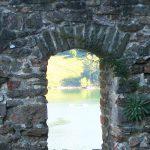 widok z okn zamku czorsztyn