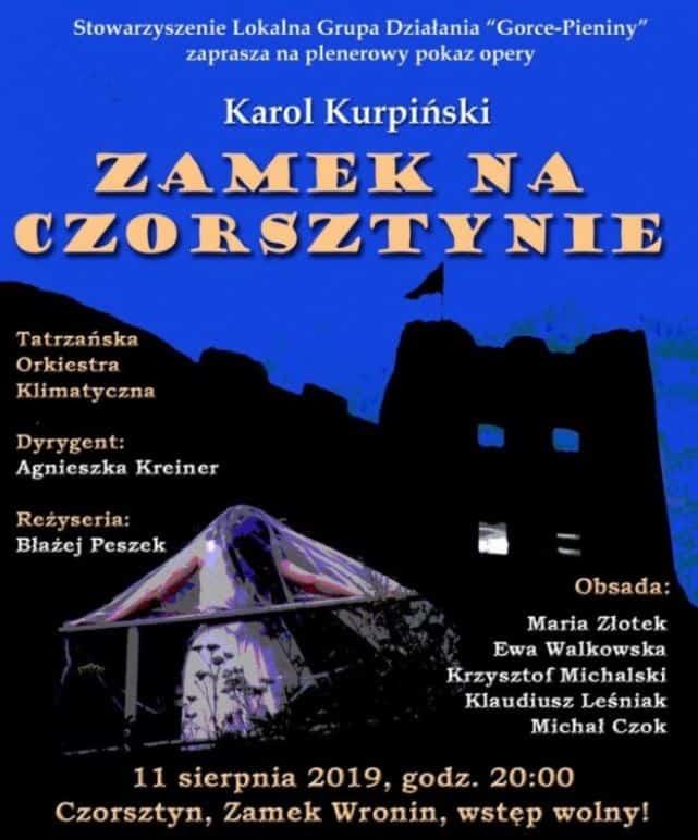 plakat opera na zamku w czorsztynie