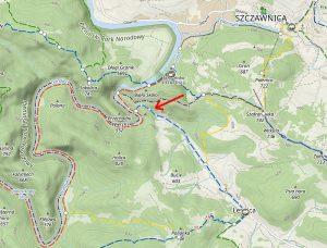 Przełom Leśnickiego Potoku mapa lokalizacja